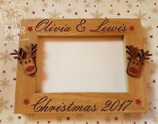 Personalised hand made engraved christmas photo frame gift