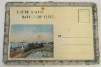 Fold-Out Postcard Set United States Battleship Fleet Norfolk VA States