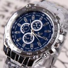 ORLANDO Brand Man Classic Business Quartz Stainless Steel Wristwatch Blue Face