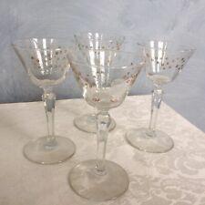 New listing Set of 4 Vintage Rooster Atomic Cocktail Martini Wine Stemware 3 oz Bar Glasses