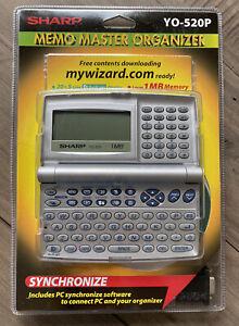 SHARP Memo Master Organizer YO-520P Synchronize 1MB Memory BRAND NEW SEALED!!!