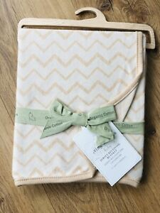 Living Textiles Baby Jersey Receiving Blanket & Elephant Toy Organic Cotton New