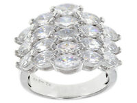 Size 8 -Bella Luce 7.79ctw Marquise Cut Rhodium over Sterling Silver Ring