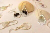 925 Sterling Silver GEMSTONE Dangle Earrings A Great Gift Idea!