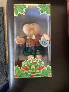 Cabbage Patch Kids Holiday Baby 1995 Boxed 17605 Mattel Doll Boy