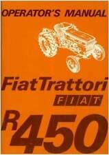 FIAT tracteur R450, Spécial, Vineyard & DT Operators Manuel