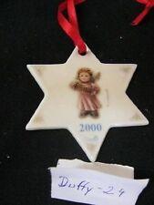 Christbaumschmuck Engel mit Ziehharmonika 2000 Hummel  von  Goebel