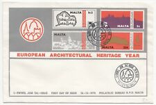 Malta; 1975 European Architectural Heritage Year Set on Unaddressed FDC