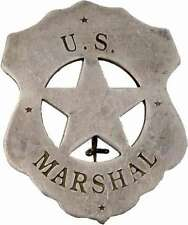 Deputy Sheriff Stern US Marshal altsilber Sheriffstern Western Cowboy USA Pin