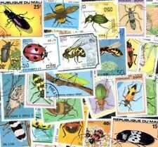 INSECTES collections de 25 à 300 timbres différents