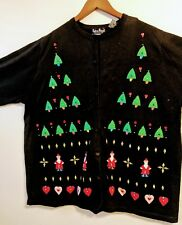 Women's Ugly Christmas Cardigan, size 2x, brand new by Reference Point