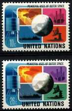 United Nations New York 1975 SG#263-4 Peaceful Uses Outer Space MNH Set #D62802