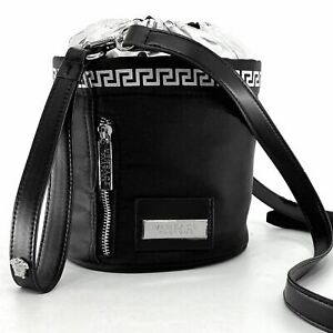 VERSACE PARFUMS Mini CROSSBODY Wristlet Small BUCKET Bag GRECA Key MEDUSA NIP