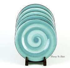 Hausenware, Twist Teal, Set of 2 Salad Plates, NEAR MINT!, Swirl