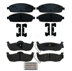 Front and Rear Pad Sets Kits Ceramic ACDelco For Jeep Commander Grand Cherokee