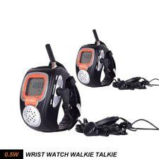 1 Par Reloj de pulsera Walkie Talkie UHF 462-467MHz FRS/GMRS Con Auricular XMAS