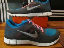 RARE NEW Nike Free Run 3 Turquoise Blue 3M Silver 13 510642 406 Running Walking