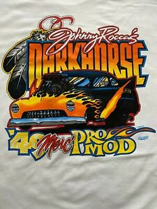 JOHNNY ROCCA DARK HORSE '49 MERC PRO MOD NHRA Short Sleeve Custom T-shirt