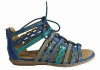 NEW EARTH TIDAL WOMENS COMFORTABLE LEATHER GLADIATOR FLAT SANDALS