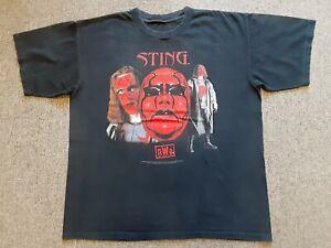 Vintage 90s 1998 WCW NWO Sting Wrestling Tee T Shirt Black X-Large XL ?? WWF WWE
