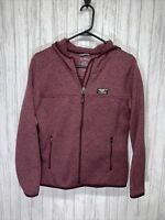 Womens Size S Petite LL Bean Full Zip Sweater Fleece With Hood EUC