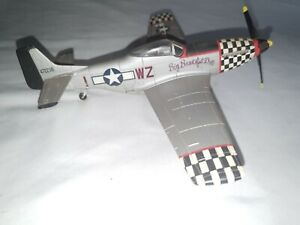 P-51 Mustang Big Beautiful Doll Diecast Military WWll Fighter Plane 63154