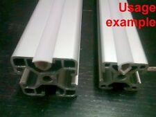 Aluminum T-slot profile End 8mm Slot Cover plastic white/grey 3030 or 4040, L 4m
