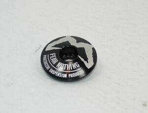 """Genuine Nos Marzocchi 'Fear Nothing' Alloy Stem/Headset Cap, 1-1/8"""", Brand New"""