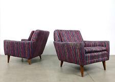 Pair Vintage Folke Ohlsson Dux Teak Lounge Chairs Mid Century Danish Modern
