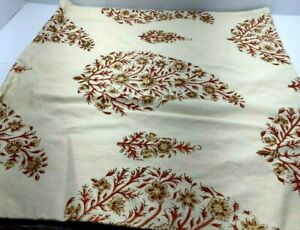"""Pottery Barn Floral Printed Pillow Cover cream 24"""" x 24"""""""