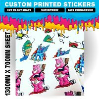 Bulk Custom Stickers - Cut to Any shape - Printed Product Labels - Business Logo