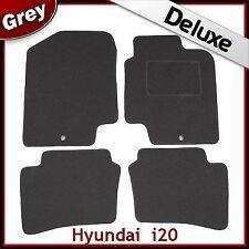 Hyundai i20 Mk1 2008-2014 2-eyelets Tailored LUXURY 1300g Carpet Car Mats GREY