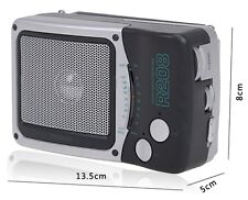 TECSUN Radio R208 Dual Band AM/FM Portable Pocket D-szie Battery Desktop Radio