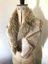 Ladies River Island Faux Suede Fur Cropped Bolero UK12