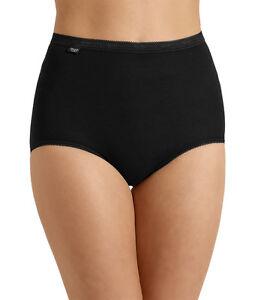 Sloggi Women's Basic Maxi Briefs Black, White, Nude Sizes 10-30 4 Pack (3+1)