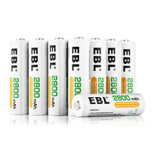 8x 2800mAh AA R6 Rechargeable Batteries 1.2V EBL 2A Battery For Camera Toy US