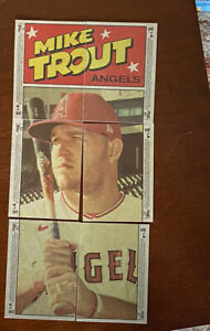 2021 Topps Heritage Puzzle C - Mike Trout Full Set (6) - Adell, Lewis, Harper++