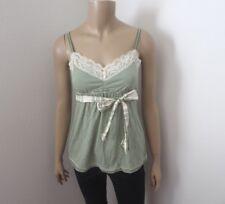 Hollister Womens Vintage Babydoll Striped Tank Top Size Medium Cami Green