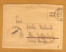 Feldpost Brief Wehrmacht Ausb.Abteilung Regiment GD in Guben 5.1.1945