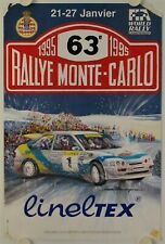 Affiche 63e RALLEY MONTE CARLO 1995 illustr. BERENGUIER