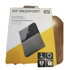 WD My Passport 1TB External Hard Drive *NEW *FACTORY SEALED *FREE SHIPPING
