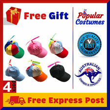 4 PACK Propeller Hat Novelty Cap Tweedle Dum Dee Clown Party Helicopter Costume