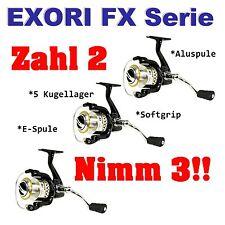 Exori FX 30 FB Angelrolle Frontbremse - Ideal für Sbirolino Tremarella Schleppen