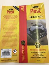 ANT BAIT TRAY TRAP x 3 REPELLENT STOPPER WOODLICE SPIDERS BUGS FLEAS