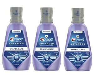 3 Bottles 1l each  Crest Pro-Health Advanced Enamel Care mouthwash with Fluoride