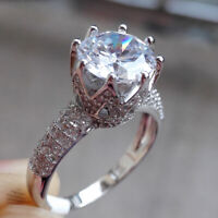 Wedding Engagement Ring For Women 2ct Round White Cz 925 Sterling Silver Sz 5-10