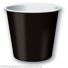 24 Pack Black Party Paper Cups Hot/Cold...Halloween...Pirate...Goth...Punk Theme
