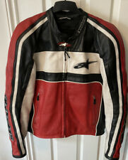 ALPINESTARS Leather Red MOTORCYCLE JACKET With Armour SIZE EUR 52 US 42 (LARGE)