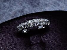 0.60 Ct. Round Cut Pave Milgrain Diamond Wedding Band 14k White Gold