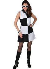 Deluxe Swinging 60's Black / White Mary Quant Dress  - Sizes 6 to 24
